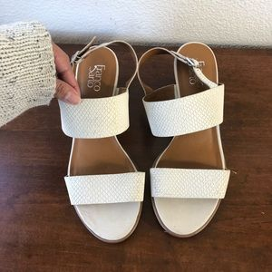 Franco Sarto sandals, white